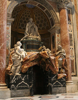 The tomb of Pope Alexander VII. Was it God, God, God, God, God! or Me, Me, Me, Me, Me!